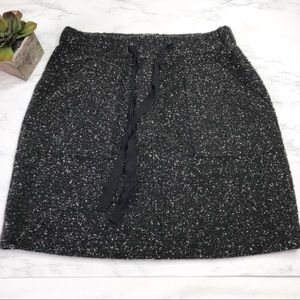 LOFT speckled wool blend skirt, elastic waist